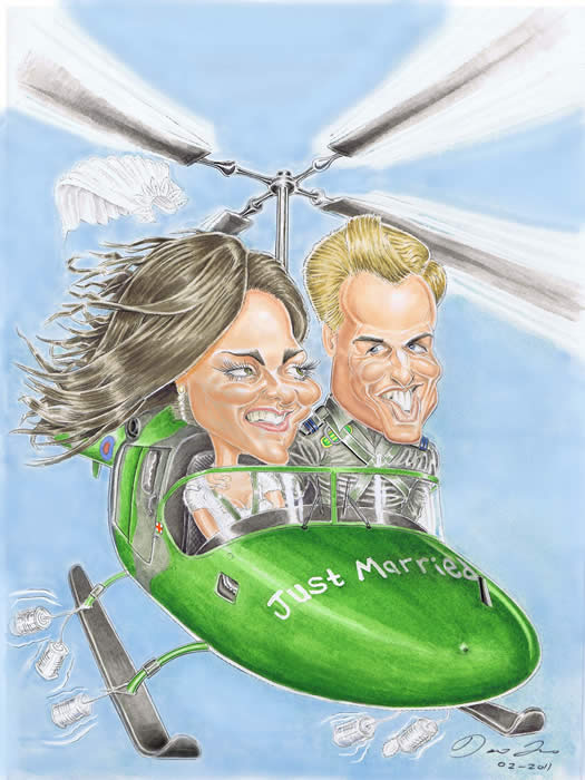 Prince William and Kate Middleton by Wedding Caricature Artist Essex