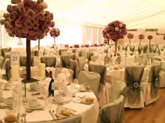 Essex Wedding Venue Decoration Flowers, Table Linen, Chair Covers